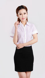 女式短袖衬衫CS-8253