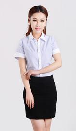 女式短袖衬衫CS-8255