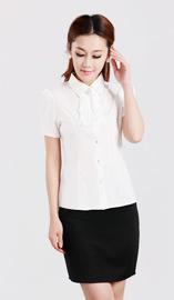 女式短袖衬衫CS-8362白色款