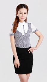 女式短袖衬衫CS-8360