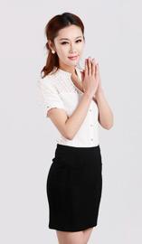 女式短袖衬衫CS-8361白色款