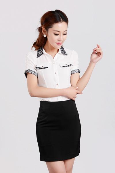女式短袖衬衫CS-8363
