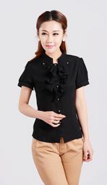女式短袖衬衫CS-8365黑色款