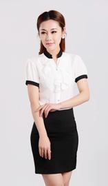 女式短袖衬衫CS-8366白色款