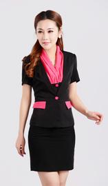 女士短袖西服XZ-1071短袖款